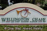 Wellington Chase community sign